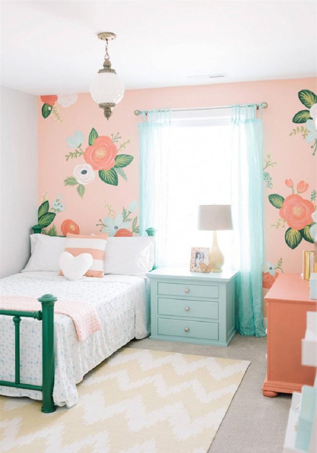 Ngọt ngào như những căn phòng ngủ sơn màu hồng đào - Ảnh 3.