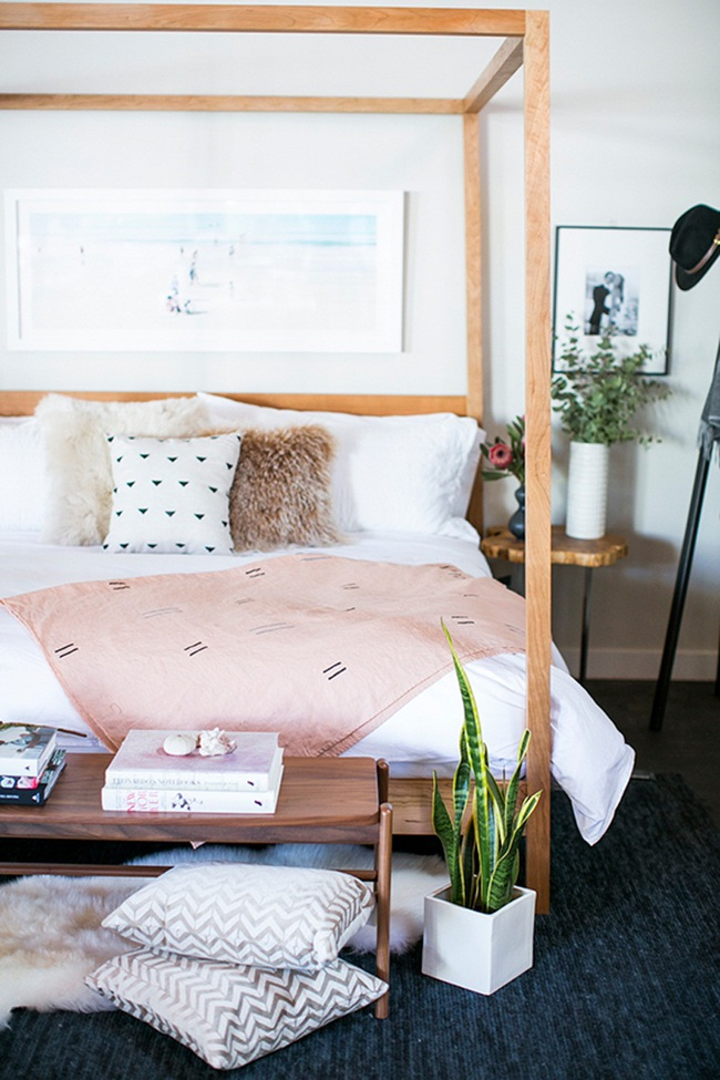 Ngọt ngào như những căn phòng ngủ sơn màu hồng đào - Ảnh 8.