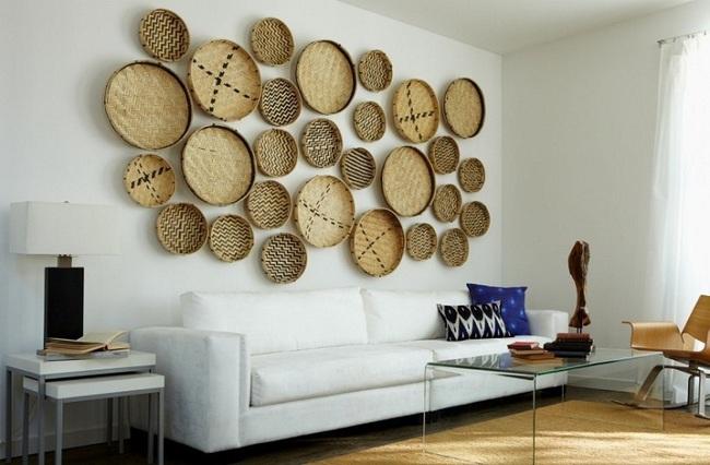 Tường nhà bớt nhàm chán với những món đồ trang trí bằng mây tre đan độc đáo - Ảnh 5.