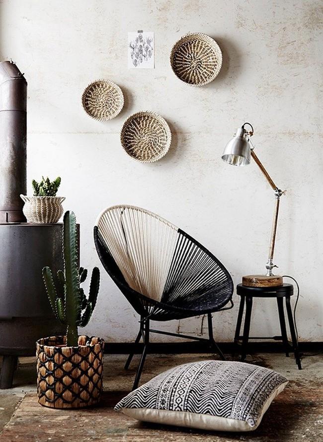 Tường nhà bớt nhàm chán với những món đồ trang trí bằng mây tre đan độc đáo - Ảnh 6.