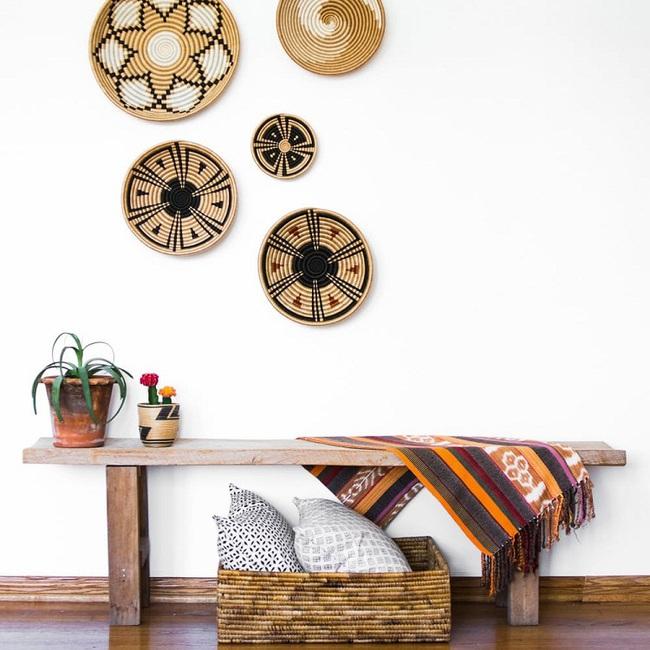 Tường nhà bớt nhàm chán với những món đồ trang trí bằng mây tre đan độc đáo - Ảnh 12.