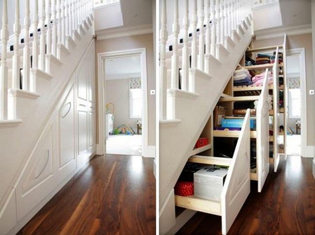 Những cách tận dụng gầm cầu thang để chứa đồ tiện ích và thông minh - Ảnh 3.