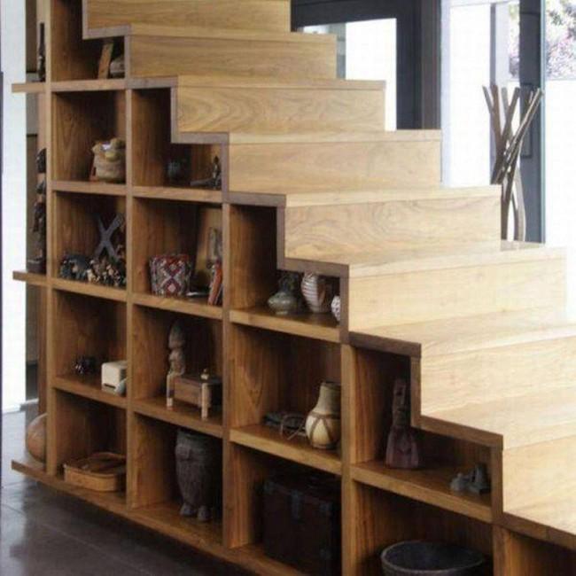 Những cách tận dụng gầm cầu thang để chứa đồ tiện ích và thông minh - Ảnh 7.