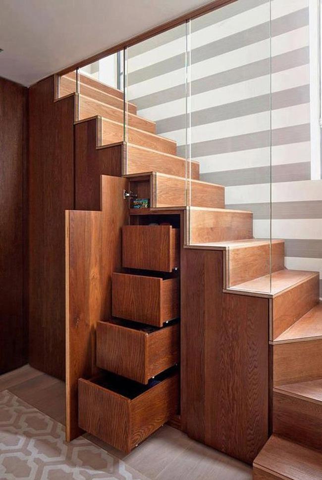 Những cách tận dụng gầm cầu thang để chứa đồ tiện ích và thông minh - Ảnh 10.