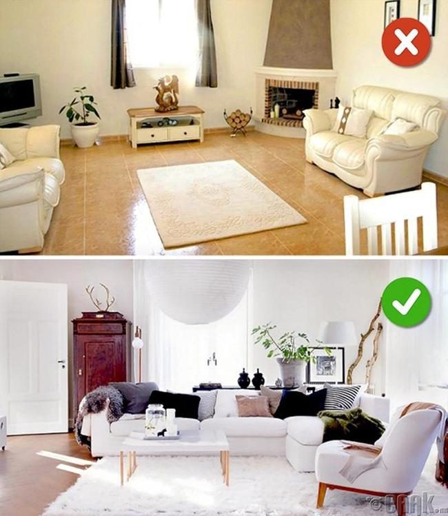 16 lỗi sai hầu như ai cũng mắc phải khi cải tạo phòng khách - Ảnh 2.