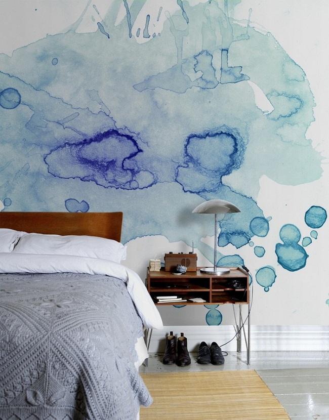 Bạn sẽ có một phòng ngủ thật phong cách nếu biết những cách sơn tường này - Ảnh 1.