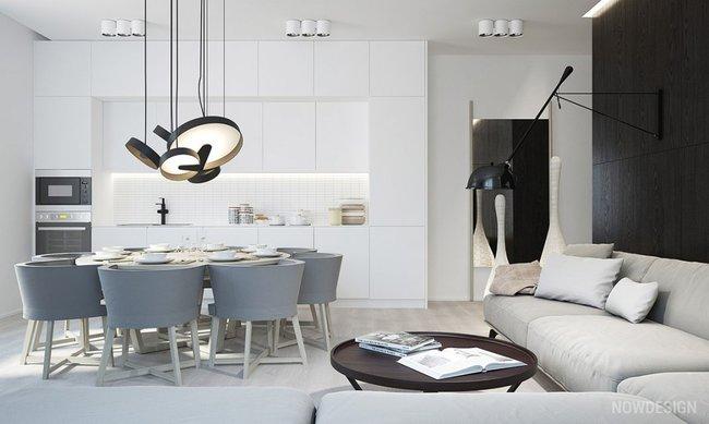 22 mẫu thiết kế phòng bếp màu xám ngỡ nhàm chán mà lại đẹp không tưởng - Ảnh 2.
