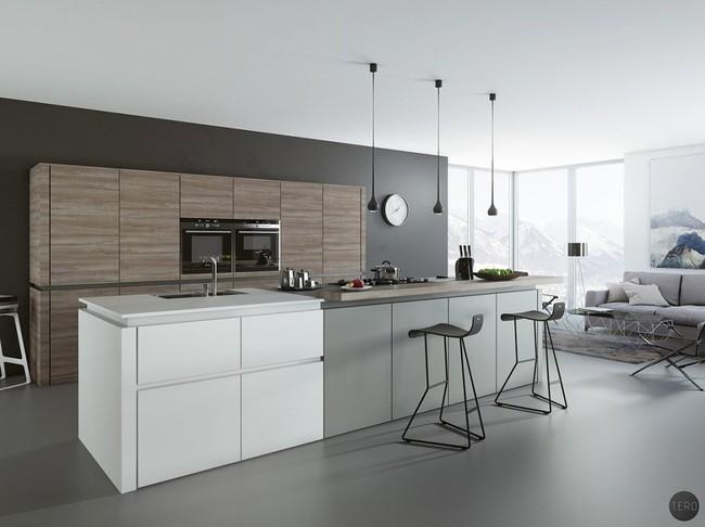 22 mẫu thiết kế phòng bếp màu xám ngỡ nhàm chán mà lại đẹp không tưởng - Ảnh 4.