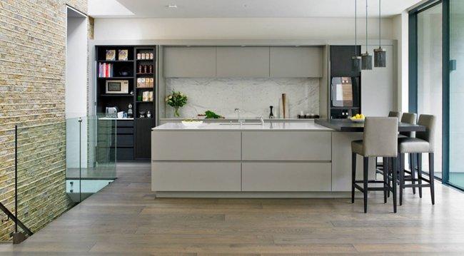 22 mẫu thiết kế phòng bếp màu xám ngỡ nhàm chán mà lại đẹp không tưởng - Ảnh 5.