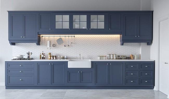 22 mẫu thiết kế phòng bếp màu xám ngỡ nhàm chán mà lại đẹp không tưởng - Ảnh 6.