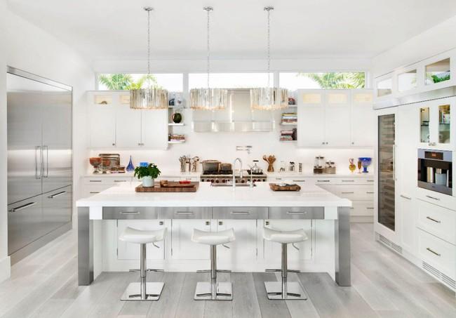 22 mẫu thiết kế phòng bếp màu xám ngỡ nhàm chán mà lại đẹp không tưởng - Ảnh 8.