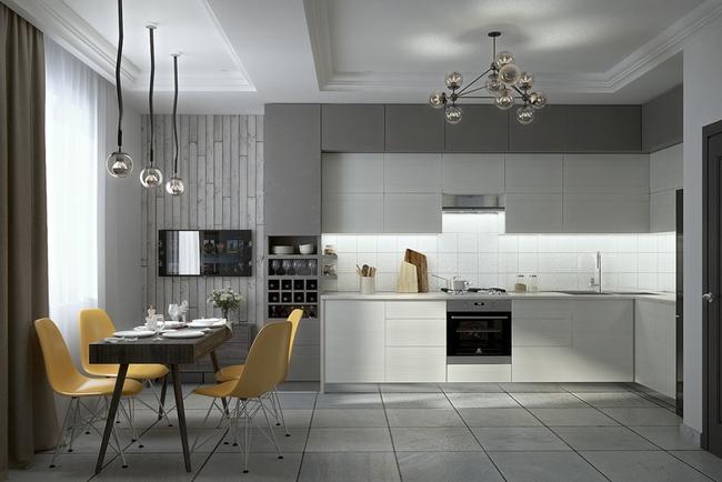 22 mẫu thiết kế phòng bếp màu xám ngỡ nhàm chán mà lại đẹp không tưởng - Ảnh 11.