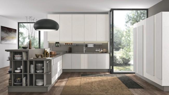 22 mẫu thiết kế phòng bếp màu xám ngỡ nhàm chán mà lại đẹp không tưởng - Ảnh 12.