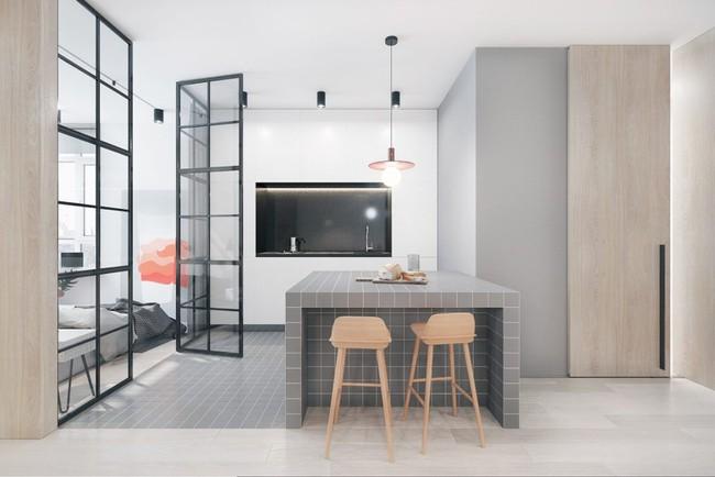 22 mẫu thiết kế phòng bếp màu xám ngỡ nhàm chán mà lại đẹp không tưởng - Ảnh 13.