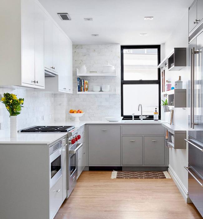22 mẫu thiết kế phòng bếp màu xám ngỡ nhàm chán mà lại đẹp không tưởng - Ảnh 14.