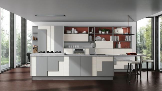 22 mẫu thiết kế phòng bếp màu xám ngỡ nhàm chán mà lại đẹp không tưởng - Ảnh 17.