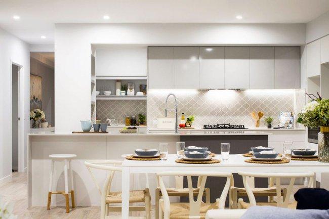 22 mẫu thiết kế phòng bếp màu xám ngỡ nhàm chán mà lại đẹp không tưởng - Ảnh 20.