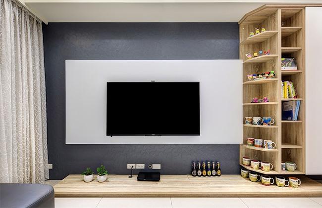 Căn hộ nhỏ thu hút mọi ánh nhìn nhờ trang trí bằng gạch ốp tường 3D - Ảnh 2.