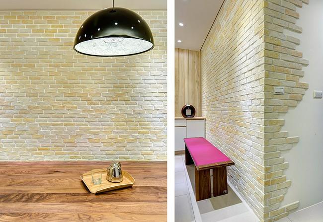 Căn hộ nhỏ thu hút mọi ánh nhìn nhờ trang trí bằng gạch ốp tường 3D - Ảnh 4.