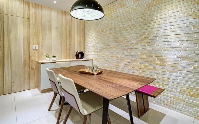 Căn hộ nhỏ thu hút mọi ánh nhìn nhờ trang trí bằng gạch ốp tường 3D - Ảnh 6.