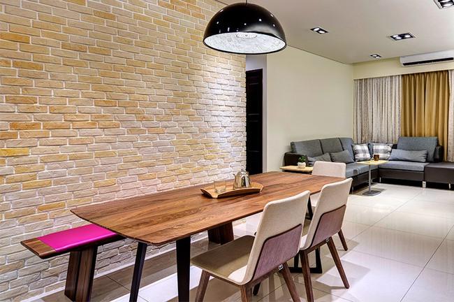 Căn hộ nhỏ thu hút mọi ánh nhìn nhờ trang trí bằng gạch ốp tường 3D - Ảnh 7.