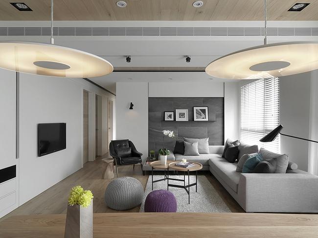 Ngỡ ngàng với cách chọn màu trung tính khiến căn hộ nhỏ trở nên đẹp thanh lịch và cá tính - Ảnh 2.