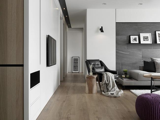 Ngỡ ngàng với cách chọn màu trung tính khiến căn hộ nhỏ trở nên đẹp thanh lịch và cá tính - Ảnh 4.