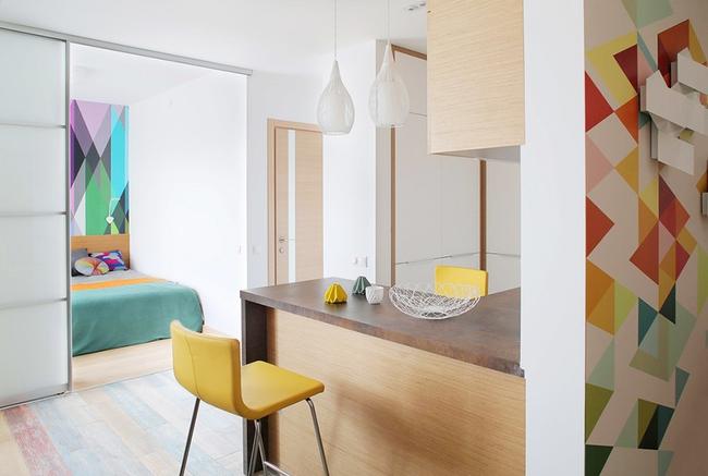 Cách sử dụng màu sắc giúp căn hộ vỏn vẹn 25m² này đẹp đến bất ngờ - Ảnh 8.