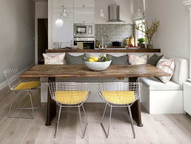29 mẫu bàn ghế ăn khiến phòng ăn nhà bạn từ nhỏ hóa rộng thênh thang   - Ảnh 1.
