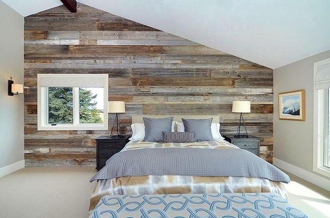 Cách sử dụng gỗ tái chế cho những bức tường phòng ngủ thêm quyến rũ - Ảnh 3.
