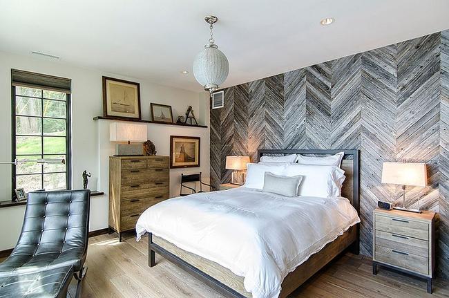 Cách sử dụng gỗ tái chế cho những bức tường phòng ngủ thêm quyến rũ - Ảnh 5.