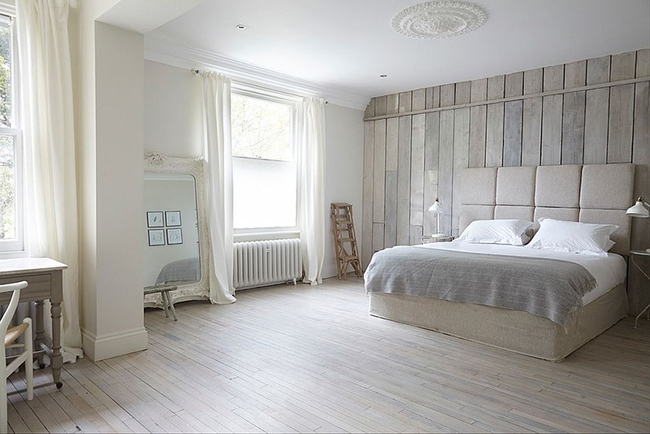 Cách sử dụng gỗ tái chế cho những bức tường phòng ngủ thêm quyến rũ - Ảnh 6.