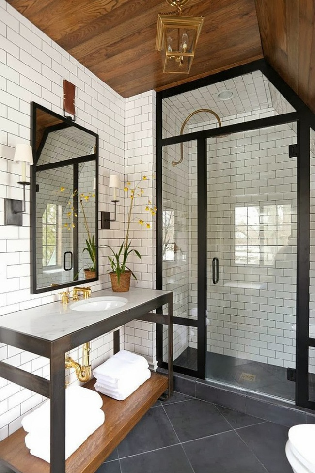 Đi trước thời đại là gì? Là bạn phải lắp khung đen vào phòng tắm như thế này - Ảnh 2.