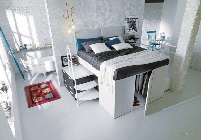Thiết kế giường giường thông minh tích hợp tủ quần áo phù hợp cho mọi phòng ngủ nhỏ - Ảnh 3.