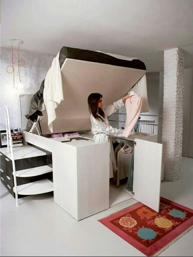Thiết kế giường giường thông minh tích hợp tủ quần áo phù hợp cho mọi phòng ngủ nhỏ - Ảnh 4.