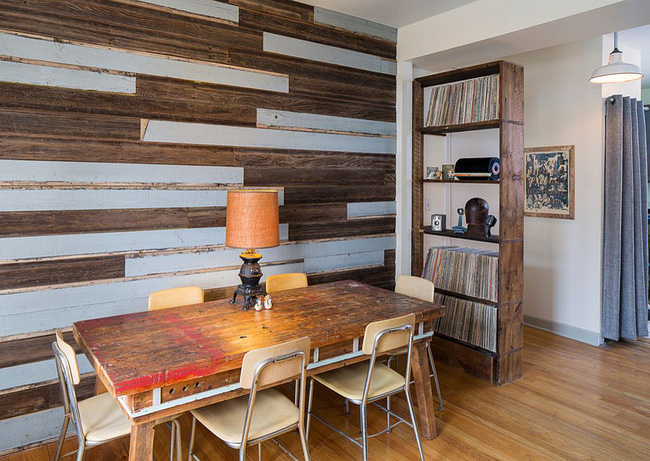 Những cách tinh tế để kết hợp gỗ tái chế vào phòng ăn - Ảnh 2.