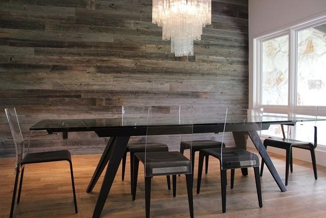 Những cách tinh tế để kết hợp gỗ tái chế vào phòng ăn - Ảnh 3.