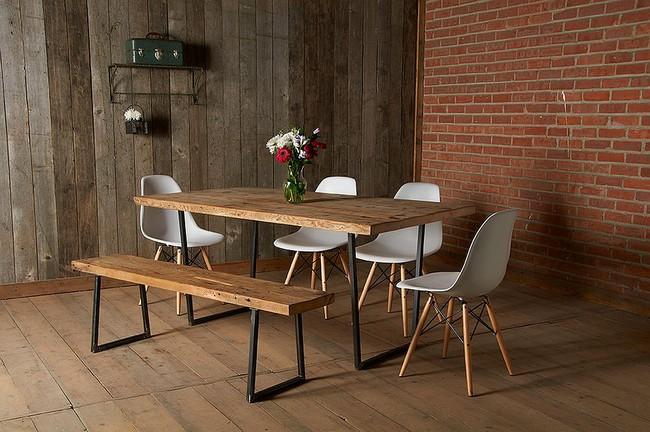 Những cách tinh tế để kết hợp gỗ tái chế vào phòng ăn - Ảnh 6.
