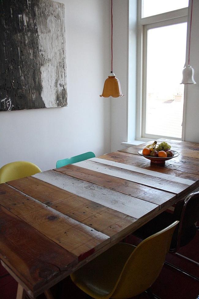 Những cách tinh tế để kết hợp gỗ tái chế vào phòng ăn - Ảnh 7.