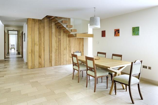 Những cách tinh tế để kết hợp gỗ tái chế vào phòng ăn - Ảnh 8.