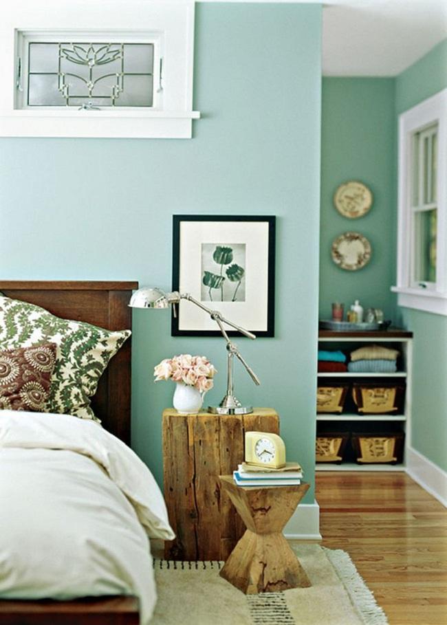 Khi đã chán đen, trắng, xám, hồng thì đừng quên xanh lá cũng là một gam màu rất tuyệt cho phòng ngủ - Ảnh 1.