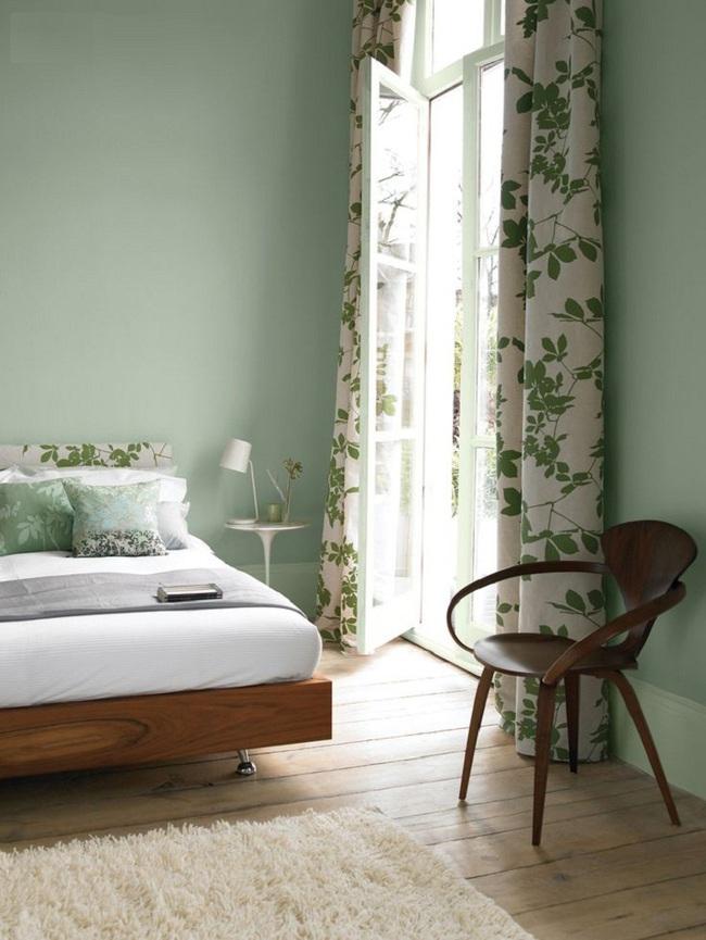 Khi đã chán đen, trắng, xám, hồng thì đừng quên xanh lá cũng là một gam màu rất tuyệt cho phòng ngủ - Ảnh 8.