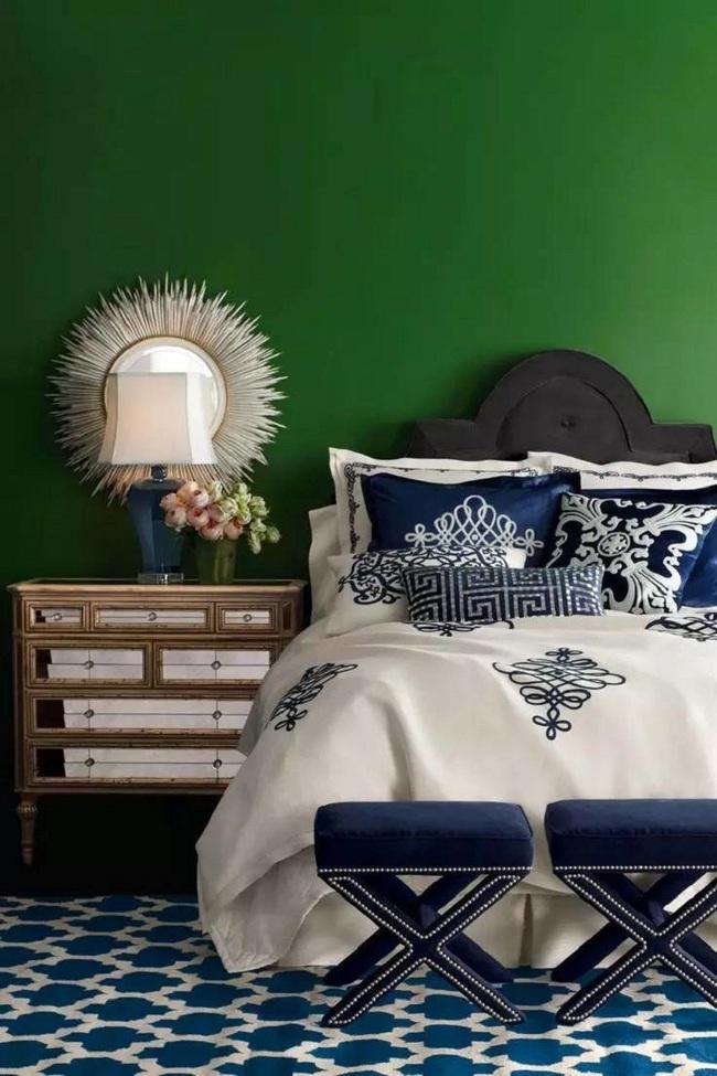 Khi đã chán đen, trắng, xám, hồng thì đừng quên xanh lá cũng là một gam màu rất tuyệt cho phòng ngủ - Ảnh 9.