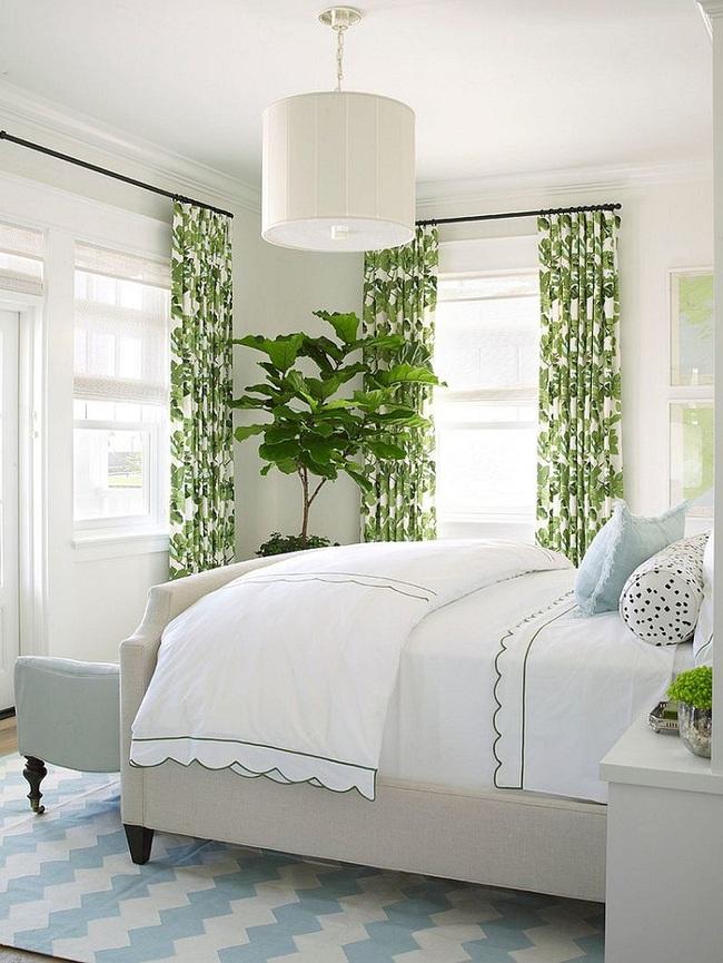 Khi đã chán đen, trắng, xám, hồng thì đừng quên xanh lá cũng là một gam màu rất tuyệt cho phòng ngủ - Ảnh 11.