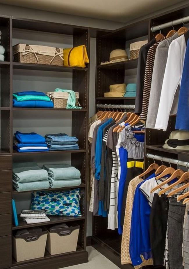 15 cách thông minh tuyệt vời để sắp xếp tủ quần áo luôn gọn gàng - Ảnh 2.