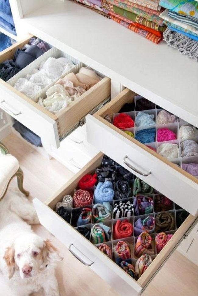 15 cách thông minh tuyệt vời để sắp xếp tủ quần áo luôn gọn gàng - Ảnh 8.
