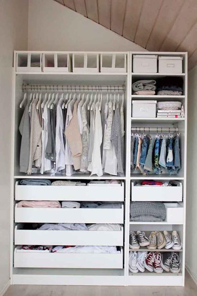 15 cách thông minh tuyệt vời để sắp xếp tủ quần áo luôn gọn gàng - Ảnh 16.