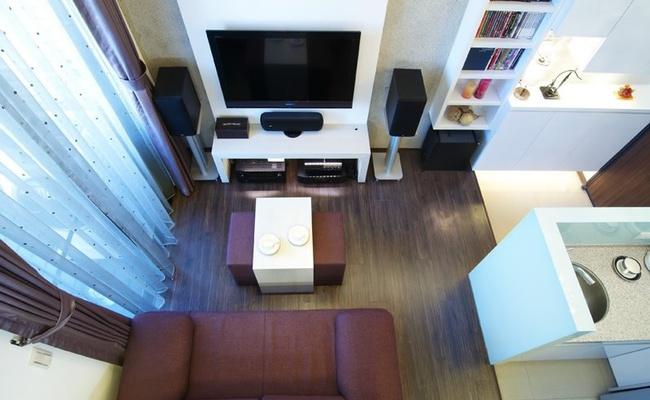 Căn hộ nhỏ vỏn vẹn 23m² được bố trí đẹp như căn hộ cao cấp - Ảnh 1.