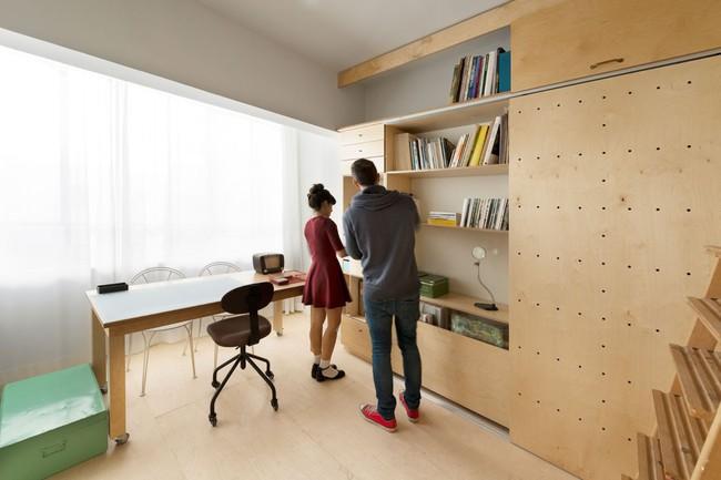 Bất ngờ với căn hộ vỏn vẹn 20m² vẫn đủ các phòng chức năng của vợ chồng mới cưới - Ảnh 1.