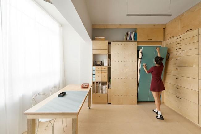 Bất ngờ với căn hộ vỏn vẹn 20m² vẫn đủ các phòng chức năng của vợ chồng mới cưới - Ảnh 9.